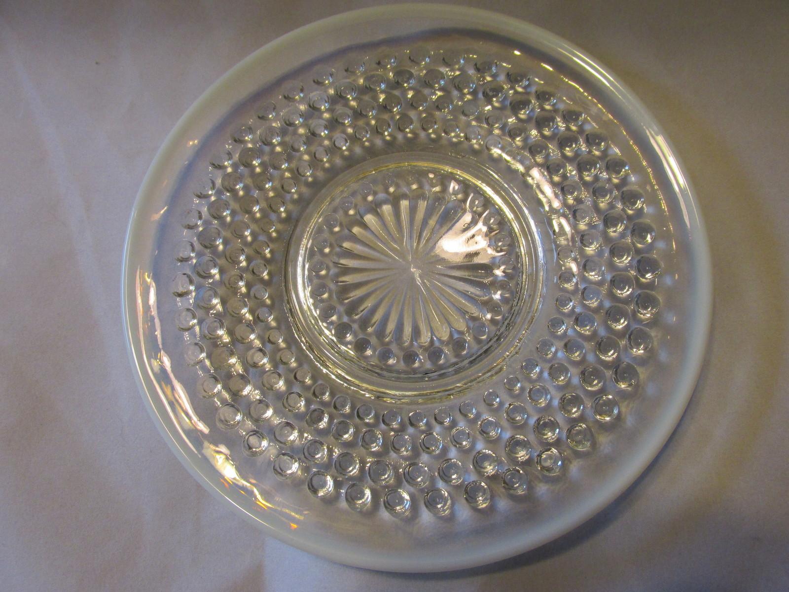 Vintage Moonstone Opalescent Hobnail Cup & Saucer - Anchor Hocking, 1941-1946 image 4