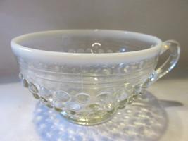 Vintage Moonstone Opalescent Hobnail Cup & Saucer - Anchor Hocking, 1941-1946 image 5