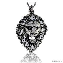 Sterling Silver Lion Head Pendant, 1 5/8 in  - $89.53