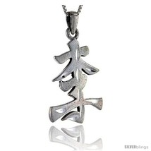 Sterling Silver Chinese Character for LEE Family Name Charm, 1 1/2 in  - $68.20