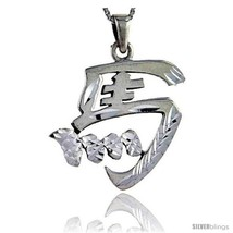 Sterling Silver Chinese Character for MA Family Name Charm, 1 3/8 in  - $74.74