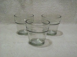 Lot of 3 Clear Glass Garden Flowerpot Votive Candle Holders - $16.00