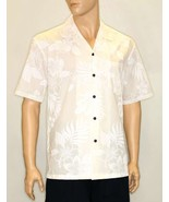 Men's White Hawaiian Wedding Shirt Short Sleeve 100% Cotton La'ele Print... - $61.45 CAD+