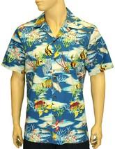 """Plus Size & Reg Men's Aloha Shirt 100% Cotton """"Hawaiian Men's Fishing"""" - $39.55+"""