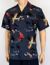 Biplanes Aloha Print Men's Short Sleeve Shirt Cotton/Rayon Blend/USA Made - $64.30+