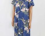 "Women's Short Rayon ""Pali Orchid Muu Muu/Blue/Red/White/Casual/Beach/Shopping"