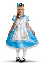 "Girl's ""Alice"" Disney Deluxe Alice in Wonderland Halloween Costume Size ... - $39.95"