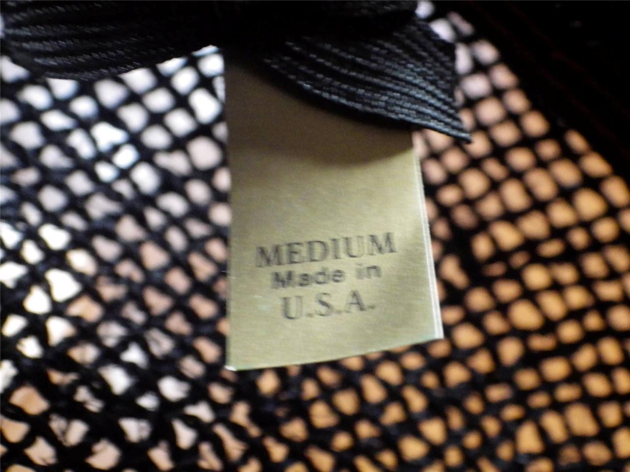 Vintage Cabbie Newsboy Hat Woven Straw - Black Unisex Made in USA