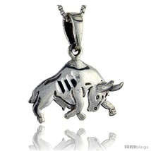 Sterling Silver Bull Pendant, 1 in  - $41.57