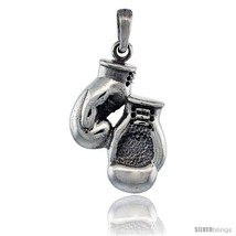 Sterling Silver Boxing Gloves Pendant, 1 in  - $69.12