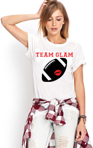 Primary image for Team Glam Football Tshirt  (14-044)