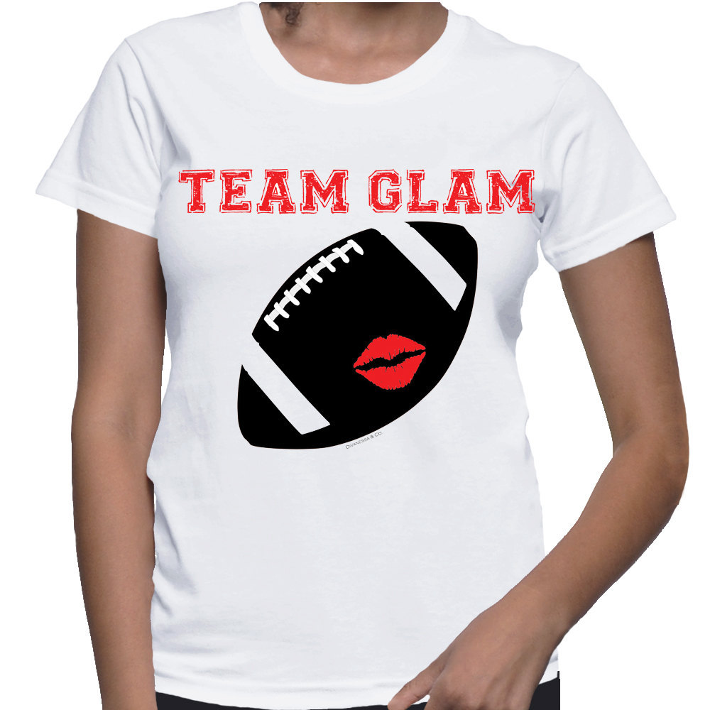 Team Glam Football Tshirt  (14-044)