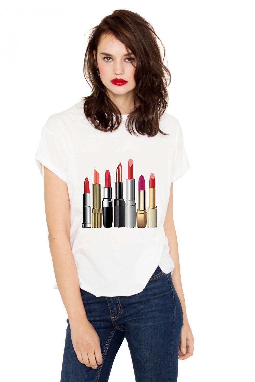 Crazy About Lipstick T-shirt (15-203)