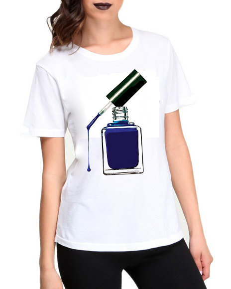 Primary image for Blue Nail Polish Tshirt  (15-017)