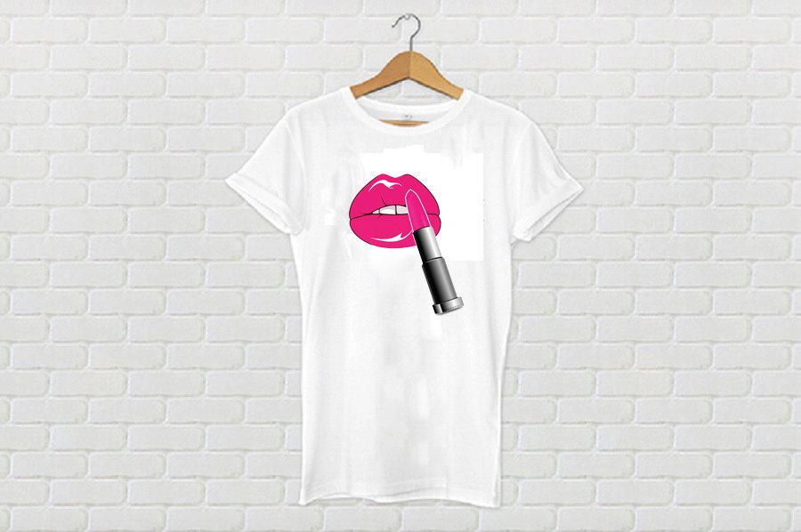 Lips & Lipstick Tshirt (15-014)