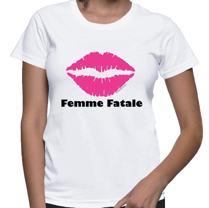 Primary image for Femme Fatale Pink Lips T-shirt (14-007)