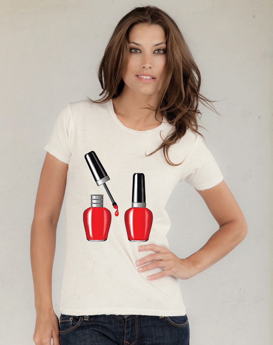 Red Nail Polish Tshirt  (15-004)