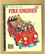 Little Golden Book -- FIRE ENGINES Illustrated by Tibor Gergely (1959 Ed... - $4.00