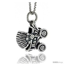 Sterling Silver Baby Carriage Stroller Pendant, 5/8 in  - $55.85