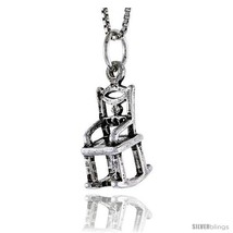 Sterling Silver Rocking Chair Pendant, 5/8 in  - $45.64