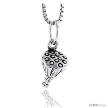 Sterling Silver Broccoli Pendant, 1/4 in  - $44.63
