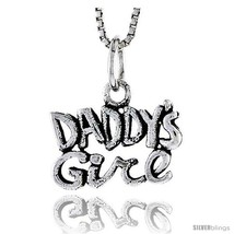 Sterling Silver Daddy's Girl Talking Pendant, 1/2 in  - $40.43