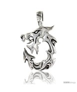 Sterling Silver Dragon Pendant, 1 1/16 in  - $153.83