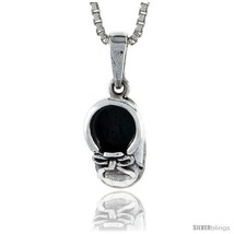Sterling Silver Baby Shoes Pendant, 1/2 in  - $34.42