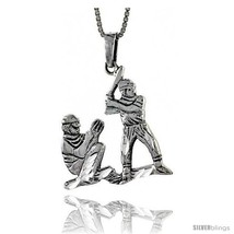 Sterling Silver Baseball Pendant, 1 3/8 in  - $52.80