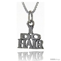 Sterling Silver I Do Hair Talking Pendant, 1 in  - $43.79