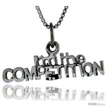 Sterling Silver I'm the Competition Talking Pendant, 1 in  - $43.79