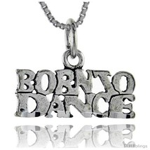 Sterling Silver Born to Dance Talking Pendant, 1 in  - $43.79