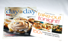 Lot of 2 Weight Watchers Cookbooks Day by Day and Take Out Tonight  - $10.00