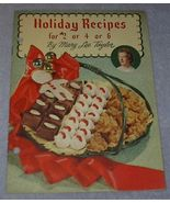 Cook Book Holiday Recipes for 2 or 4 0r 6 - $5.00