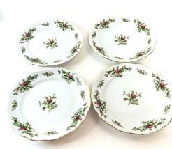 "4 Johann Haviland MOSS ROSE Traditions Fine China 7.75"" Salad Plate Vintage - $39.59"