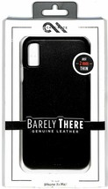 Case-Mate Barely There Genuine Black Leather Case for Apple iPhone XS Max NEW image 2