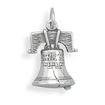 Sterling Silver Liberty Bell Charm - $24.99