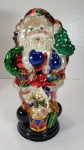 """14"""" Glass SANTA CLAUS Figurine in Box, He is a Beauty - $64.99"""