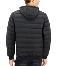 Men's Sherpa Lined Lightweight Hooded Zipper Insulated Quilted Puffer Jacket image 11