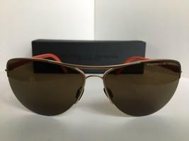 New Porsche Design P 8570 P8570 B Cat.3 61mm Aviator Matte Gold Sunglasses  - $189.99