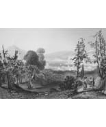 ITALY Meta Piano di Sorrento - 1864 Fine Quality Print Engraving - $49.50