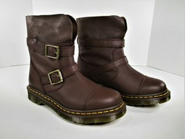 Dr Martens Kristy Women's Slouch Boots Dark Brown Virginia Suede Size 7 ... - $128.70