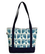 Vietsbay Women Cute Owl Pattern-2 Print Heavyweight White Canvas Handbag - $26.75