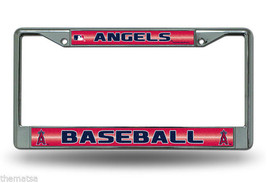 ANAHEIM ANGELS GLITTER CHROME METAL MADE IN USA LICENSE PLATE FRAME - $37.61