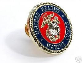 Usmc Marine Corps Color Logo Pin In Presentation  Box - $13.53