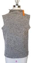 New HALOGEN Soft Wool Gray Rolled Mockneck Tweed Sleeveless Sweater Wome... - $31.68