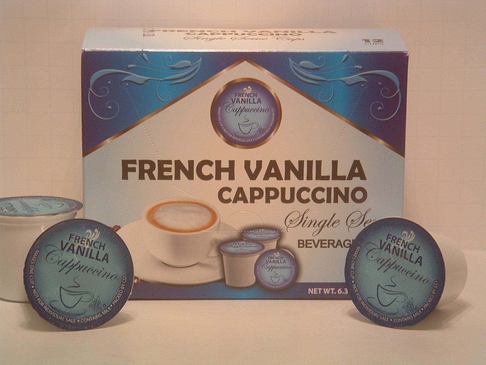French Vanilla Cappuccino 12 Single Serve K Cup Brewer