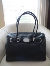 Michael Kors Hamilton Extra Large Black Leather Shoulder Bag NWT $448.00 - $214.12