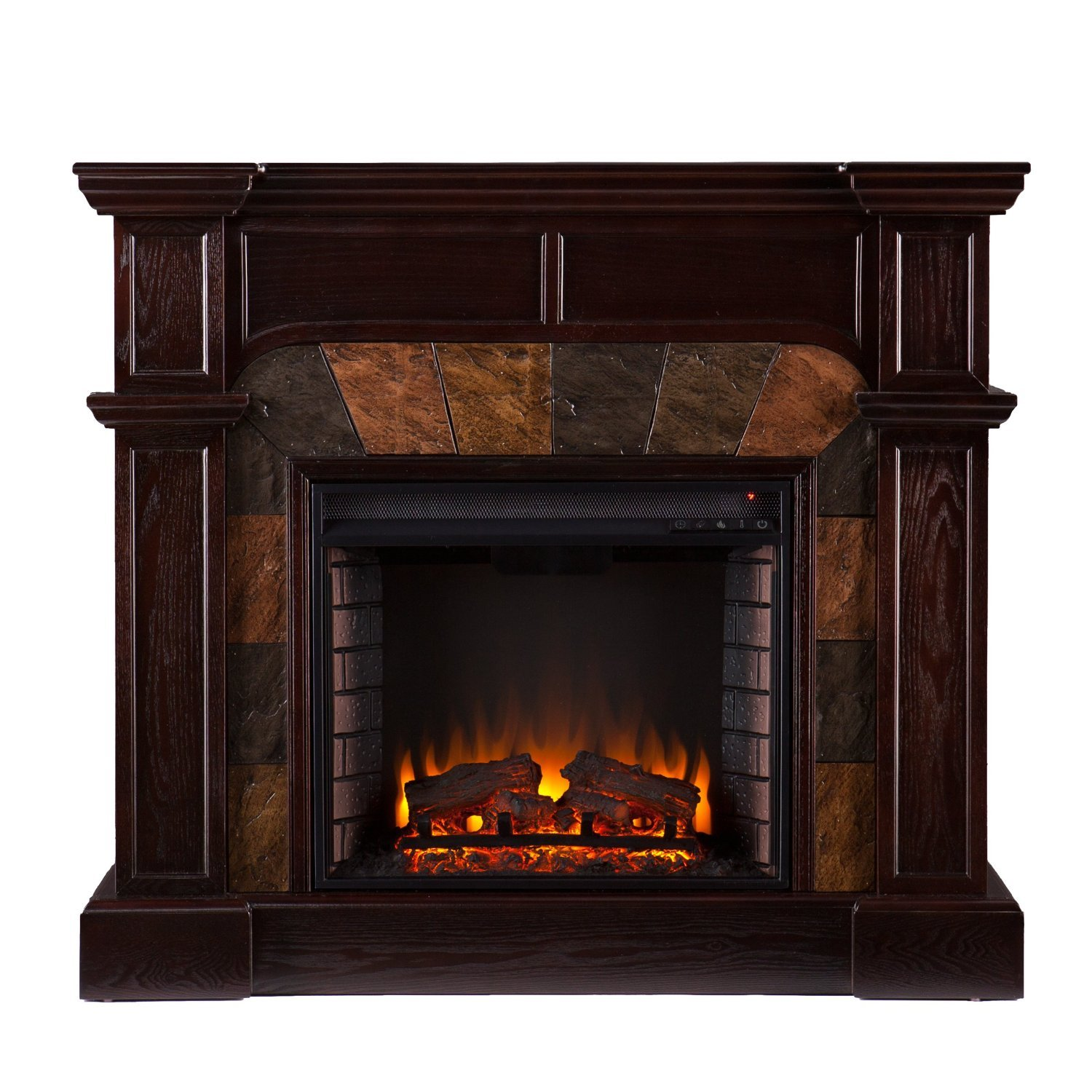 Electric Fireplace Heater Convertible Ventless Corner Livingroom Bedroom Accent Portable