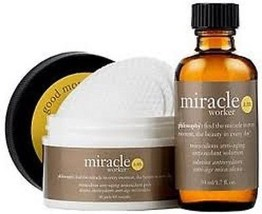 PHILOSOPHY MIRACLE WORKER AM  ANTI-AGING  SOLUTION 1.7oz, 60CT PADS - $56.06